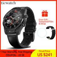 Original Ticwatch Pro Bluetooth montre intelligente IP68 étanche soutien NFC paiements/Google Assistant porter OS par Google GPS montre
