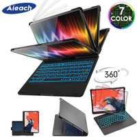 Funda para iPad Air, iPad Pro 11 10,5 9,7 7 Color retroiluminada 360 Rotatio teclado Bluetooth inalámbrico para iPad 2018 de 2017 6th 5th aire 1 2