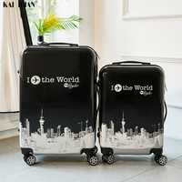 24 pouces ABS + valise pc voyage trolley bagages 20 ''continuer à rouler bagages cabine trolly sac pour voyager enfants bagages sac