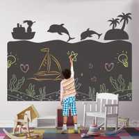 Enfants créatifs enfants dessin papier jouets peinture à la main écriture Doodle tableau noir décor mural autocollant Montessori jouet éducatif
