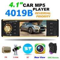 4019B 4,1 pulgadas 1 Din coche Radio Bluetooth estéreo de Audio MP5 jugador 1Din Auto Radio AUX USB Autoradio