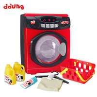 Ddung bébé semblant jouer jouets Simulation électrique son et lumière 3Y + tambour Machine à laver vêtements secs enfants ménage jouets
