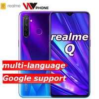 Realme Q 4GB RAM 64GB ROM 6.3 pouces téléphone mobile Snapdragon 712AIE Octa Core 48MP Quad caméra téléphone portable OPPO VOOC 20W chargeur rapide