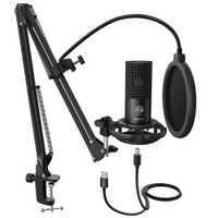 Kit de Microphone d'ordinateur USB à condensateur FIFINE Studio avec support de bras à ciseaux réglable