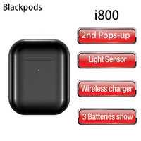 Derniers Blackpods i800 Pop-up Bluetooth casques capteur de lumière intelligent 46g Air 2 écouteurs sans fil TWS 5.0 écouteurs HD Mic casque