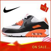 Chaussures de course NIKE AIR MAX 90 authentiques pour hommes chaussures de sport classiques de plein AIR confortables et respirantes 537384-128