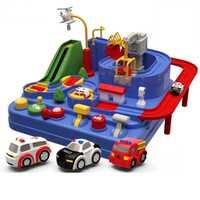 Bébé brillant éducation wagon jouet écologique bébé aventure jouet voiture Macaron couleur Table jeux garçon et fille Puzzle jouets
