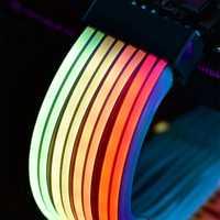 LIANLI striper Plus LED direccionable RGB extensión Cable 24pin placa base extensión striper + GPU extensión 8p Cable libre construir