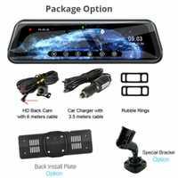 10 pulgadas HD 1080P coche DVR cámara de doble lente espejo retrovisor Dash Cam Auto grabadora cámara de visión trasera