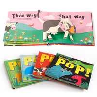 2-6 ans bébé illumination cognitif antonyme livre larme pas mal livre stéréo relié anglais livre d'images livres pour enfants