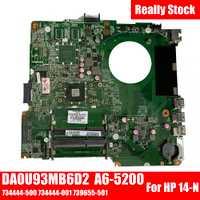 SHELI para HP 14 14-N laptop placa base notebook pc Placa base con A6-5200 DA0U93MB6D2 734444-501 734444-001 739655-501 prueba ok