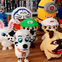 Diamantes de grano grande insertados en la serie de bloques niños juguetes de bricolaje ensamblados bloques de construcción juguetes educativos