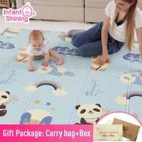 Tapis de jeu brillant pour bébé tapis de jeu pour enfants tapis de jeu pour bébé 200*180*1cm mousse XPE Puzzle tapis de jeu pour bébés tapis souple éducatif