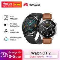 Huawei montre GT 2 GT2 montre intelligente traqueur d'oxygène sanguin bluetooth oth5.1 Smartwatch appel téléphonique traqueur de fréquence cardiaque 5ATM étanche