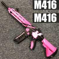 Pistolet à eau à ondes de choc électrique extérieur pour enfants jouet M416 fusil de Sniper mitraillette avec pistolet à eau cadeau d'anniversaire pour enfants