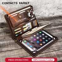 Étui en cuir Vintage pour iPad Pro 10.5 Air 3 11 2019 protecteur de tablette pour iPad 9.7 Air 2 porte-Journal à glissière