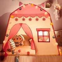 Enfants tente Oxford tissu jouer maison 3-4 enfants intérieur jouet maison filles cadeau d'anniversaire rose bébé tente Carpas Infantiles