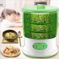 220V 50Hz EU Home Use Intelligence, termostato de tres capas de gran capacidad, máquina automática para cultivo de semillas verdes y brotes de soja