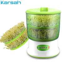 Portátil usar la inteligencia brotes de soja s de termostato verde semillas creciente de brotes de soja máquina de gran capacidad