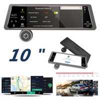 Monitor de visión trasera de coche duradero grabadora Digital visión nocturna doble lente retrovisor Universal WIFI cámara de respaldo espejo