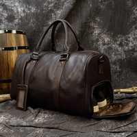 MAHEU Hot en cuir véritable hommes femmes sac de voyage souple en cuir véritable vachette porter des bagages à main sacs de voyage sac à bandoulière mâle femme