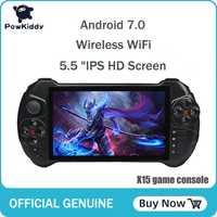 Powkiddy X15 android Console de jeu portable 5.5 pouces 1280*720 écran MTK8163 quad core 2G RAM 32G ROM lecteur de jeu vidéo portable