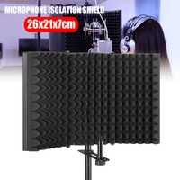 Microphone pliable Isolation acoustique bouclier alliage mousse acoustique panneau Studio enregistrement Microphone accessoires