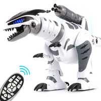 Modelo de dinosaurio inteligente RC, Robot eléctrico de Control remoto, dragón mecánico de guerra con funciones de música y luz, juguetes de Hobby para niños