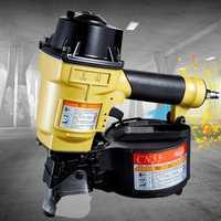 Excelente calidad neumática de bobina Roofing clavadora aire clavando arma CN55 clavadora neumática herramienta