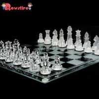 Rowsfire 25*25cm esprit jeu incroyable jeu d'échecs en verre avec verre givré et clair pièce Science jouets jouant cadeau de noël