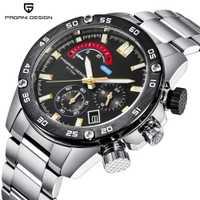 Reloj PAGANI de marca de lujo, reloj de cuarzo de acero inoxidable, reloj deportivo impermeable 30 M, relojes Montre Homme
