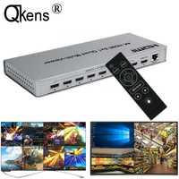 Conmutador multivisor 4K HDMI 8x1 Quad 8 en 1 interruptor sin costuras 4x1 Multi visor PIP pantalla divisor Video convertidor