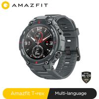 Nouveau 2020 CES Amazfit t-rex T rex Smartwatch 5ATM 14 Modes de sport montre intelligente GPS/GLONASS MIL-STD pour Xiaomi iOS Android