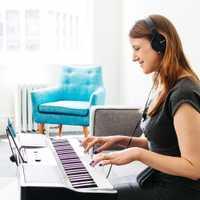 TheONE TOK1 teclado electrónico de luz de órgano para principiantes instrumento de música 61 teclas AI comprobar APP reproducción de teclado de juguete educativo