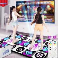 KL anglais Menu coussins de danse tapis pour TV ordinateur Flash Guide de lumière Double tapis de danse sans fil contrôle jeux Yoga tapis Fitness