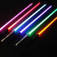 Haute qualité Star Wars Laser sabre Laser épée Jedi Sith Luke Skywalker vador Rey armes sabre lumineux Cosplay jouets avec son
