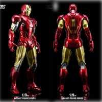 King Arts DFS021 1/9 iron man MK6 aleación figuras de acción serie Diecast figura de acción regalos para el modelo de juguete colectivo