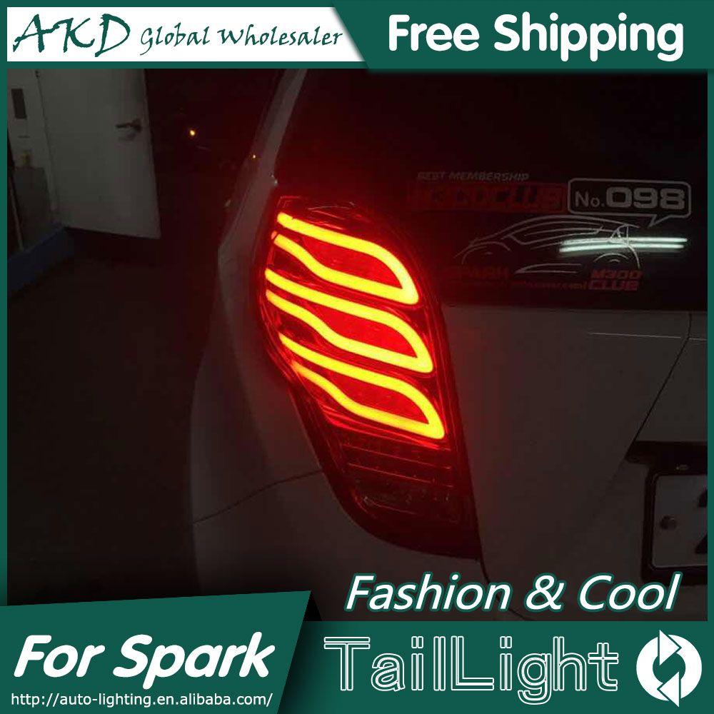 OWD US $282.75 AKD Car Styling for Chevrolet Spark Tail Lights 2012-2017 New Spark LED Tail Light Rear Lamp DRL+Brake+Park+Signal