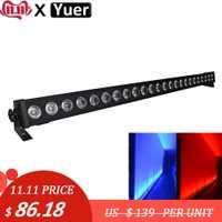 24x3w rvb 3IN1 mur LED rondelle lumière DMX barre de lavage lampe à LED 2/4/6/7/12/24 canaux angle de lentille de 25 degrés pour scène Disco DJ
