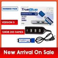 203 jeux True Blue Mini-surdose Pack pour PlayStation Classic (128 GB) accessoires 2019 ventes en précommande jeux 2 joueurs chauds