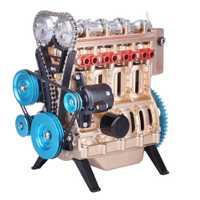 Mini Motor de coche en línea de cuatro cilindros, ensamblaje de modelos de motor Runnable, juguetes para la investigación de la industria, juego de estudio, juguete, regalo para hombres