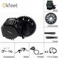 Bafang BBSHD 48V 1000W 100mm de cigüeñal Kits de Motor de 850C C965 SW102 pantalla Lcd orientada Kit de Motor eléctrico Ebike bicicleta Bluetooth
