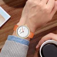 Reloj de pulsera de cuarzo con reloj minimalista para hombre, Casual, de cuero genuino, resistente al agua, reloj deportivo de marca de moda para hombre