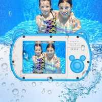 Cámara subacuática para niños 8 xzoom Digital 2,7 pulgadas LCD impermeable HD videocámara para niños regalos lente de enfoque fijo Digital las cámaras