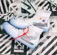2020 nouveau ALL star 1970S femmes fond en cristal hors maille chaussures haute toile chaussures sport blanc OW baskets