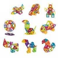 114 Uds Mini juguetes de construcción magnéticos bloques de construcción de plástico ladrillos magnéticos de diseño juguetes educativos para niños