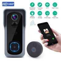 Timbre de puerta Onvian WiFi Cámara impermeable 1080P HD Video timbre de puerta Detector de movimiento timbre inalámbrico inteligente con cámara visión nocturna