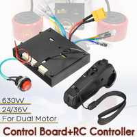 24-36V planche à roulettes électrique + télécommande pour double moteur ESC pièces de rechange Scooters accessoires de planche à roulettes