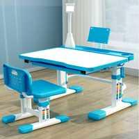 Mesa de estudio para niños, escritorio para el hogar, mesa de escritura y silla para alumnos, escritorio y silla sencillos para niños y niñas, subida y caída
