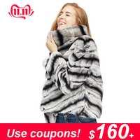 2019 offre spéciale femmes réel naturel rex manteau de fourrure de lapin de haute qualité 100% véritable rex fourrure de lapin chinchilla couleur veste d'hiver